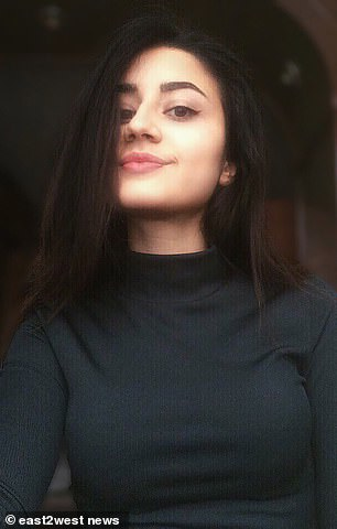 The teenage sisters, including Kristina Khachaturyan (pictured), 19,  were charged with murder over claims they stabbed their sexually abusive mafia boss father to death