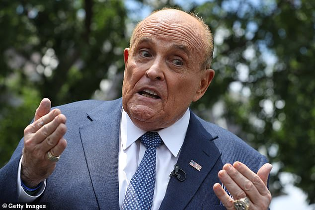 Rudy Giuliani made a surprise appearance at the White House on Wednesday where he answered questions from reporters on a number of topics but declined to say what he was doing in Washington or who he would meet with