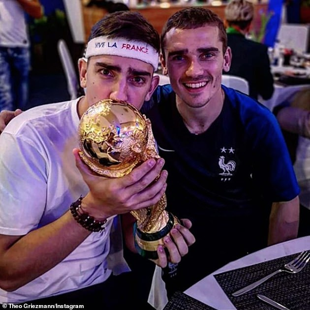 Theo Griezmann (L) slammed Setien for how he has treated his brother Antoine (R)