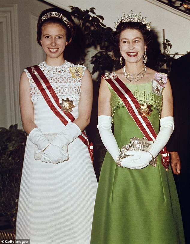 The documentary promises a `` definitive portrait '' of Anne, featuring images of the family and invisible conversations with her children, Peter Phillips and Zara Tindall, and her husband, Vice Admiral Sir Timothy Lawrence. In the photo, Anne with the Queen on a state visit to Austria in 1969