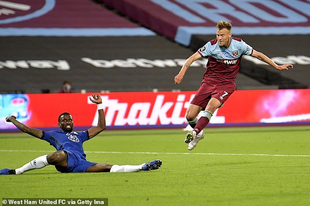 Andriy Yarmolenko, right, won it at the death for West Ham to give them a vital 3-2 victory