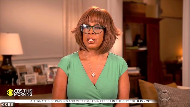 Tough questions: Gayle King asked Amanda if doctors had told her to let Nick go