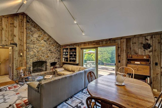 From every room there are views of the Mt Sunapee foothills to the west, according tot he property listing
