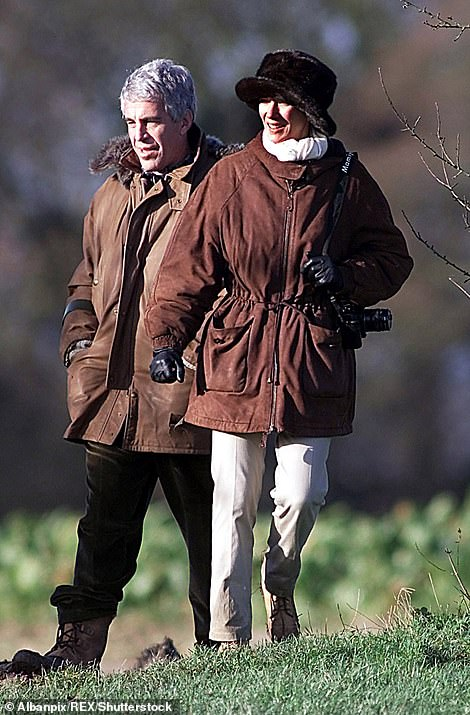 Jeffrey Epstein and Ghislaine Maxwell during a pheasant session with Prince Andrew in Sandringham December 8, 2000