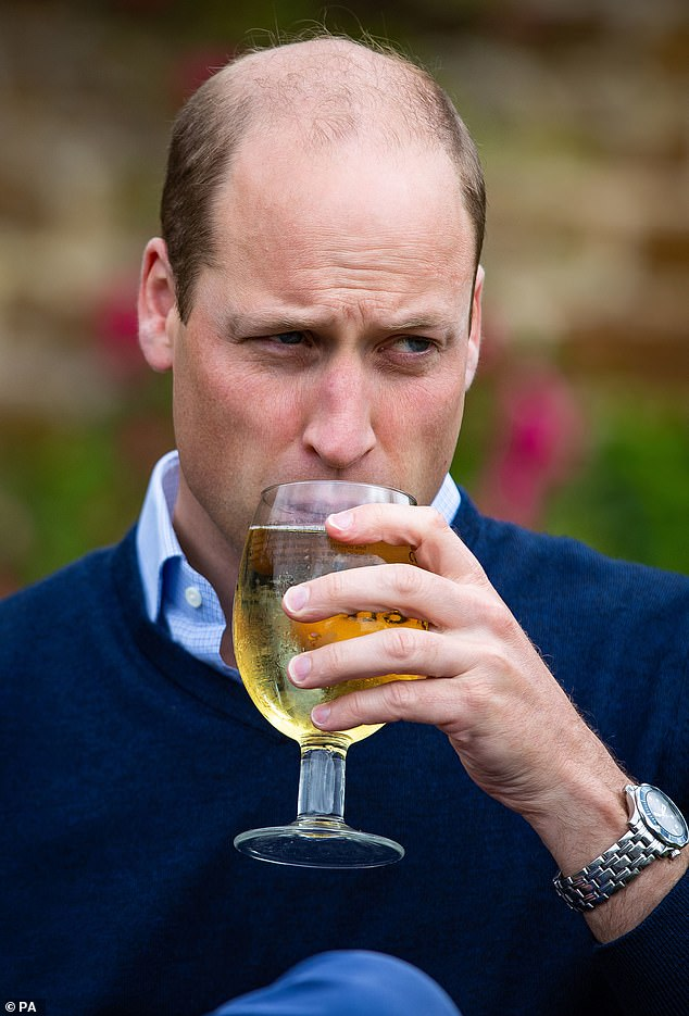 The Duke (pictured) heard how the pub has aimed to support its local community, including donating its leftover stock at the start of lockdown to the Purfleet Trust which provides help for single homeless people in King's Lynn and West Norfolk