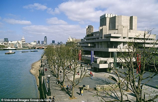 The National Theatre (pictured) in London announced it has made 400 casual staff redundant as the theatre industry continues to feel the impact of the COVID-19 pandemic