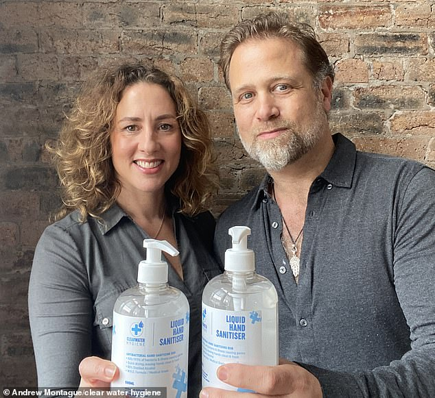 ClearWater Hygiene, founded by husband and wife team Andrew and Rachel Montague in March, produces high grade hand sanitiser aimed at frontline workers and the wider public. It has already secured major contracts with corporate clients