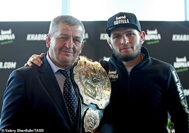 Abdulmanap Nurmagomedov (left), father of UFC star Khabib (right) 'died in hospital'