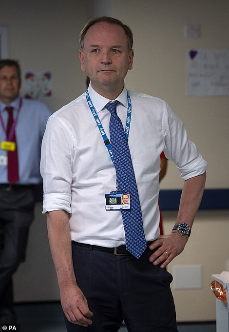 NHS chief Sir Simon Stevens also called for restraint and not 'pub-ageddon' when bars and restaurants open for the first time in more than three months