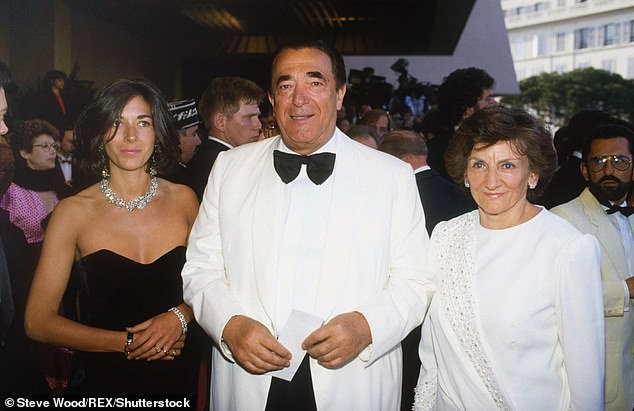 Ghislaine, Robert and Elizabeth Maxwell (from left to right) at the Cannes Film Festival in May 1987
