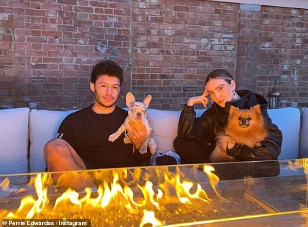 Home life: Perrie was isolated with Wendy's son Alex in their Cheshire home