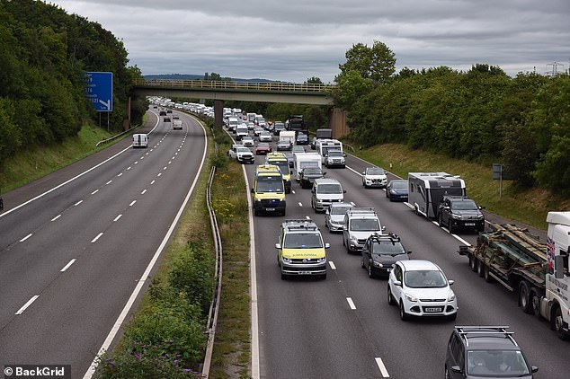There were also multiple reports of accidents on the M5 involving holiday traffic, with the Exeter-based HART ambulance team seen heading southbound towards Junction 31