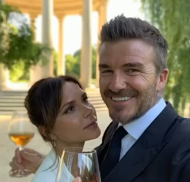 David (right) and Victoria Beckham (left) celebrate their 21st wedding anniversary on Sunday