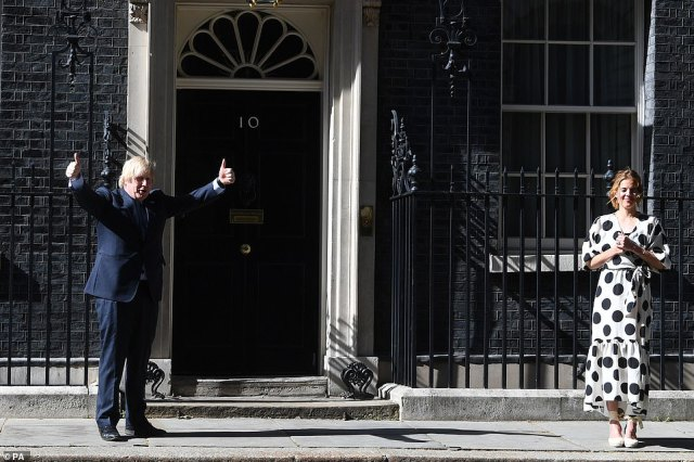 Boris Johnson is meeting with NHS workers in the Number 10 garden this afternoon to mark the NHS's 72nd birthday today