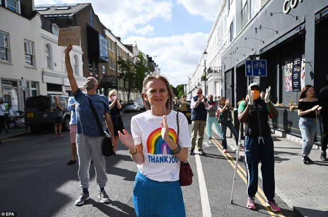 People across the UK were encouraged to clap for the NHS on Sunday afternoon to mark its 72nd anniversary and to thank staff for their work in tackling the coronavirus pandemic