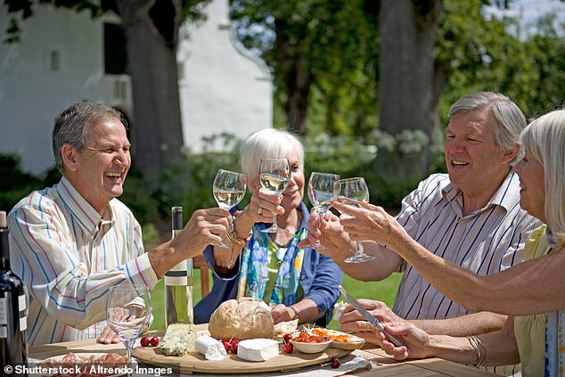 The investigation by independent alcohol education charity Drinkaware found that peer pressure is felt by all ages — but impacts older generations in different ways. While they may think they are 'older and wiser' and immune to such influence, seniors are still vulnerable but less likely to identify peer pressure as being overt (stock image)