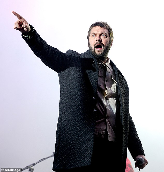 Shock: Kasabian confirmed on Monday that lead singer Tom Meighan has LEFT the band and claims that `` personal issues have affected his behavior for some time '' (2017 photo)