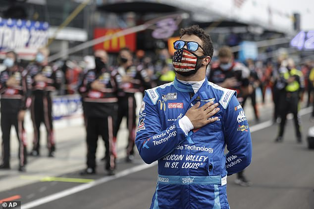NASCAR driverBubba Wallace accused President Donald Trump of 'hate' toward him and said he would respond to that with 'love'