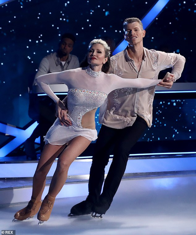 Before the drama: The 5ft 9 star quit Dancing On Ice early in February this year, amid an alleged row with her skating partner, Hamish Gaman – which she has strongly denied