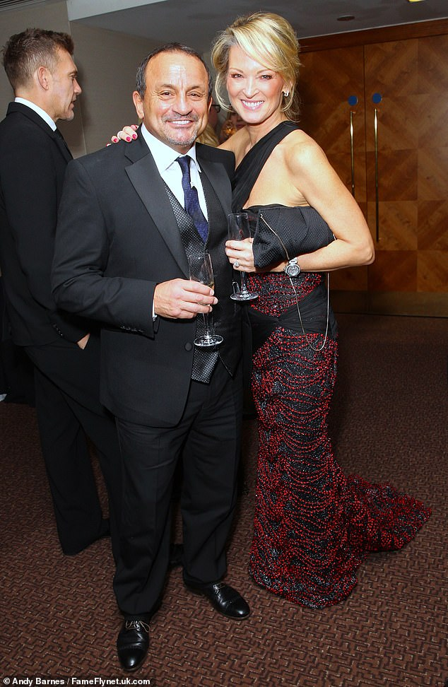 Dave Fairbairn and Gillian Taylforth are pictured together above on November 21, 2015.Dave Fairbairn, 64, was shot in the stomach on Sunday, July 5