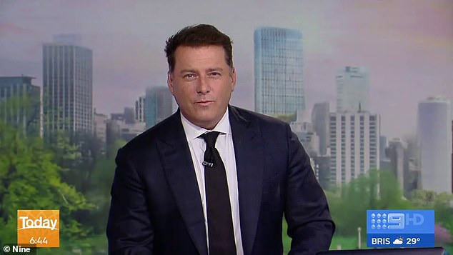 Divisive rhetoric: The senator said refugees living inside the towers should learn English during a controversial interview with co-hosts Allison Langdon and Karl Stefanovic (pictured)