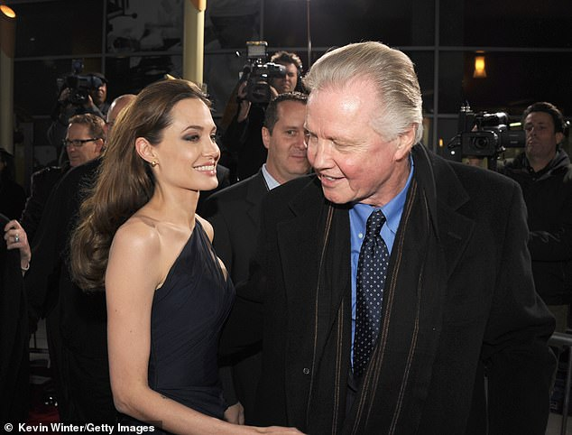'When my father had an affair, it changed my life': These days, the Ray Donovan star is best known as the father of Oscar winner Angelina Jolie (L), who mentioned him in her Mother's Day essay in the New York Times (pictured in 2011)