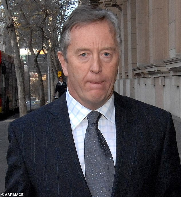 Former solicitor Andrew Fraser (pictured) is seen as he leaves the Supreme Court after giving evidence at the trial of Peter Dupas in Melbourne in 2007. He has since become too ill to give evidence