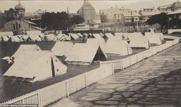 The pandemic was so severe a third of all Australians were infected at some point. South Australian residents, who had been visiting in Victoria when the borders between the two states closed, were sent to a quarantine camp at the Jubilee Oval