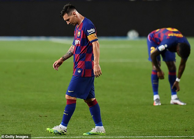 Messi has endured a chaotic season with Barcelona as they struggle to win the LaLiga title