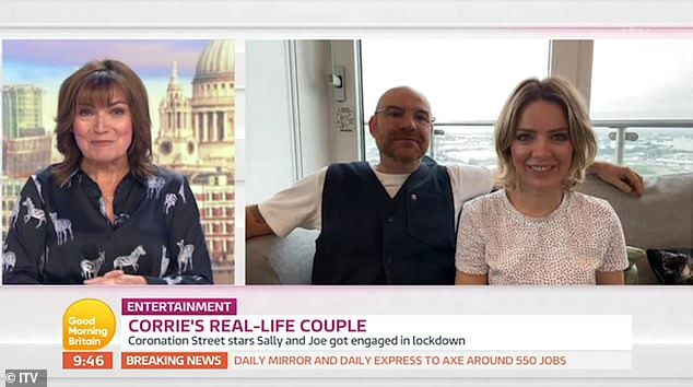 Work-life balance:When asked whether they help each other out with their work at home, Joe, 50, said: 'We need to leave work at work'