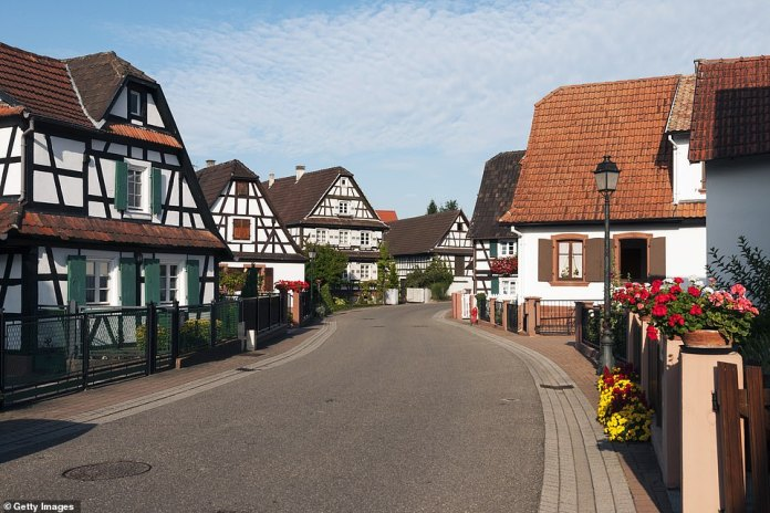 1st - Hunspach in Alsace in the north-east of the country. The show says that the striking village is