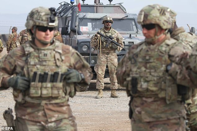 The U.S. did not increase protection measures as a result of the information. File photo, US soldiers attend a training session for the Afghan Army in Herat, Afghanistan in February 2019