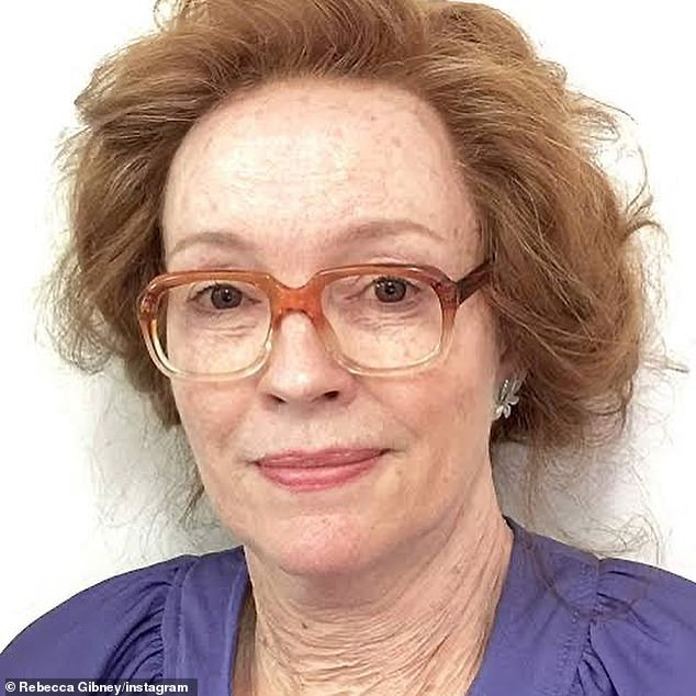 Packed To The Rafters actress Rebecca Gibney, 55, has shared incredible makeup artist transformation into an elderly 76-year-old lady (pictured) for her2015 role in TV mini-series Not The Boy Next Door