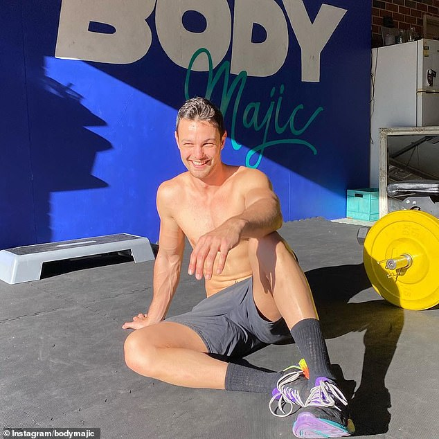 Keeping it simple: Gerard has his own personal training program 'Body Majic' that he runs from his base in Perth, Western Australia