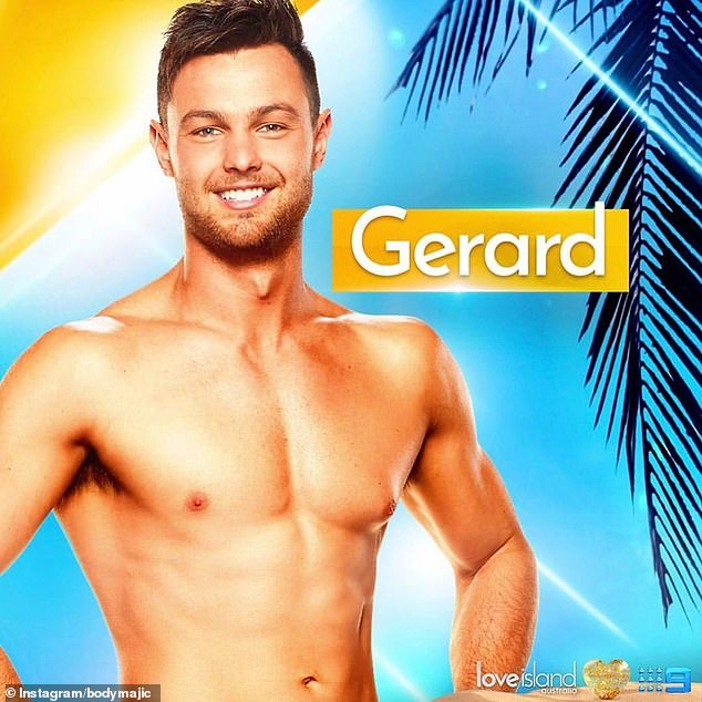 """""""Don't follow the Kardashians' health and fitness advice!  Love Island Australia season 2 star Gerard Majda (pictured) slammed famous American family for unrealistic fitness advice after recent Khloe 'Photoshop scandal'"""