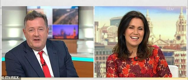 Familiar faces: Susanna Reid and Piers Morgan also co-organized GMB