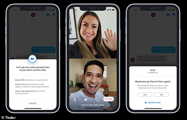 The new feature allows users to video chat in the app and is being rolled out in 13 markets including some place in the US as well as Brazil and France