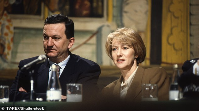 RIP: Known for his role as DCS Michael Kernan opposite Helen Mirren in the ITV show (pictured), John leaves behind his wife of 31-years Lilian, son Freddie, and grandson Rex