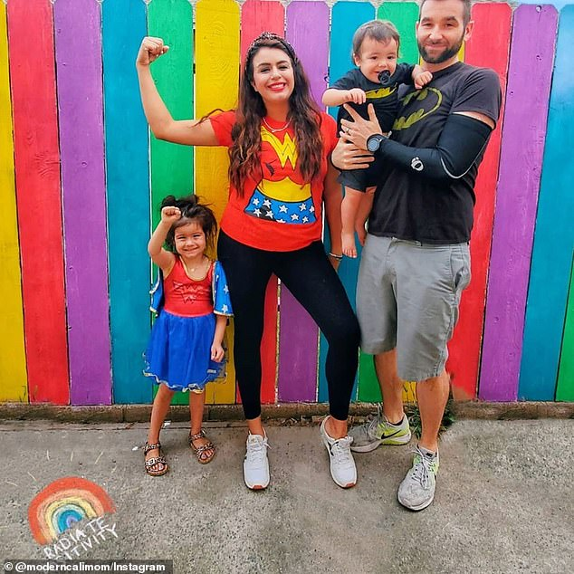 Rios, who lives with her daughter Dani, four, and son Dylan, one, filed a lawsuit last month alleging gender discrimination, retaliation and wrongful termination