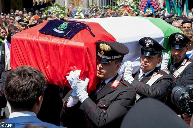The murder sparked a national outcry. The funeral was held in the same church where Rega had married just months before