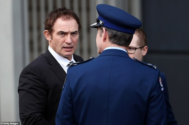 Police Commissioner Andy Coster (right) said 'Matt was loved and respected by colleagues' after living the police values