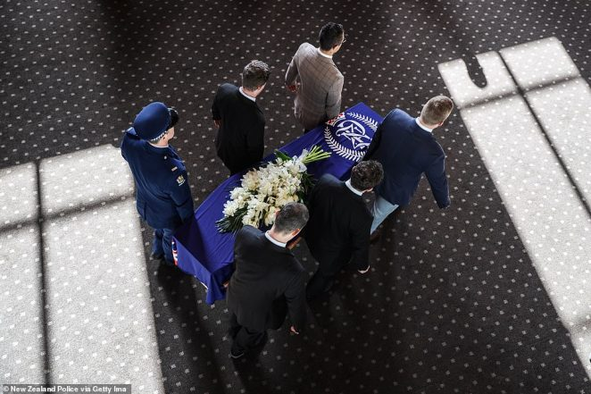 Mr Hunt's funeral was held at Eden Park Stadium, the home of his favourite rugby team, the Auckland Blues