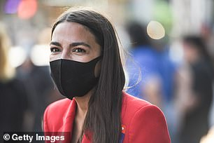 Congresswoman Alexandria Ocasio-Cortez co-chaired the climate portion of the group