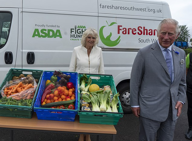 The Prince of Wales, President of Business in the Community, along with Camilla (pictured), thank staff who have kept the country's vital food supplies moving throughout the coronavirus pandemic
