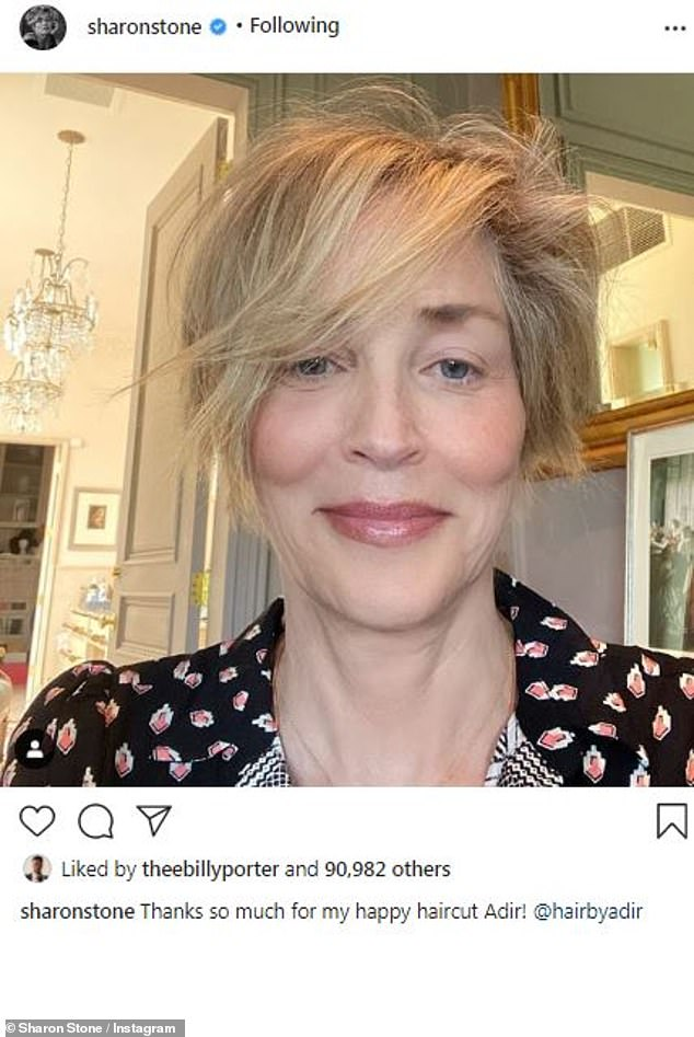 Sharon Stone Hair 2020 : sharon, stone, Sharon, Stone,, Shares, Astonishingly, Wrinkle-free, Selfie, Daily, Online