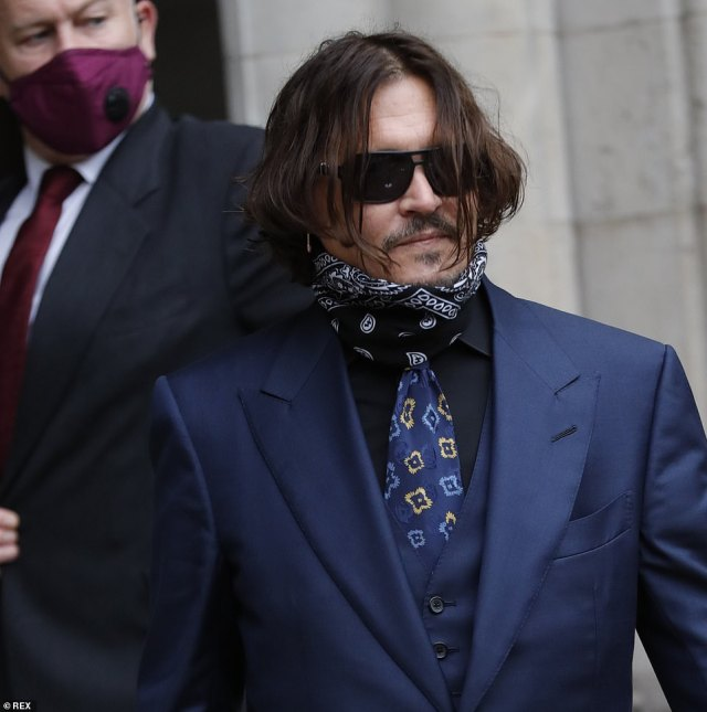 Depp was on the stand at the High Court for a third day yesterday and was questioned about the incident after he previously claimed the injury was sustained when Heard threw a vodka bottle at him during the fight in Australia