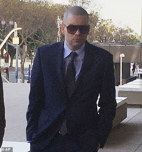 Horror: The most horrific of the show's woes was undoubtedly Mark Salling's 2015 arrest and subsequent conviction in 2017 for possession of more than 50,000 images and 600 videos which showed girls, some of whom as young as three, being raped (Pictured: Arriving at court in December 2017)