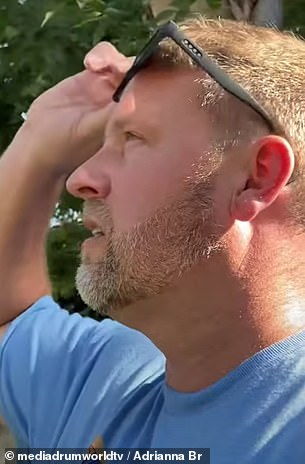 Shock: 'I guess I never knew I lived with such severe colorblindness until now,' he remarks in the video, after looking at some vibrant flowers in his yard