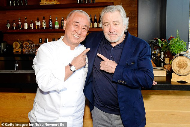 De Niro with Nobu Matsuhisa, with whom he founded a restaurant business 25 years ago