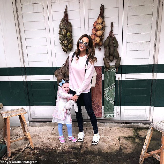 'Spending the day with my little human is gold': Before Michael whisked Kelsey-Lee away, his ex Kyly enjoyed quality time with her at Taronga Zoo on Thursday